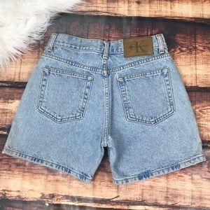 Vintage Calvin Klein Mom Jeans Shorts Denim Short